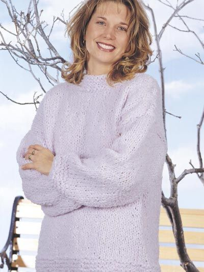 Womens Sweater Knitting Patterns Lilac Boucle Sweater A Great Quick