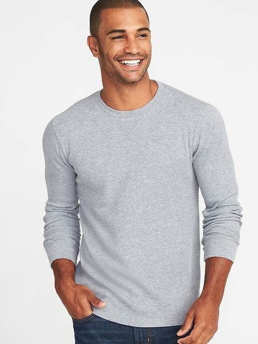 91573747bf9 Old Navy Soft-Washed Thermal-Knit Crew-Neck Tee for Men