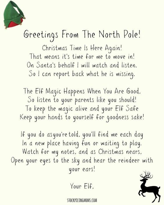 Elf On A Shelf Welcome Letter Free Printable to use when your