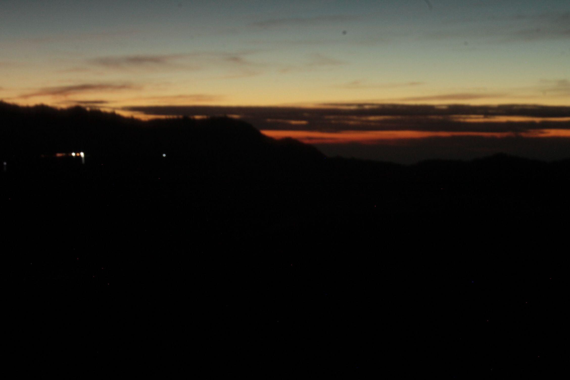 Esperando el amanecer en el Bromo
