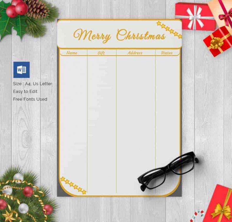 christmas gift wish list gift shopping list wish list templates