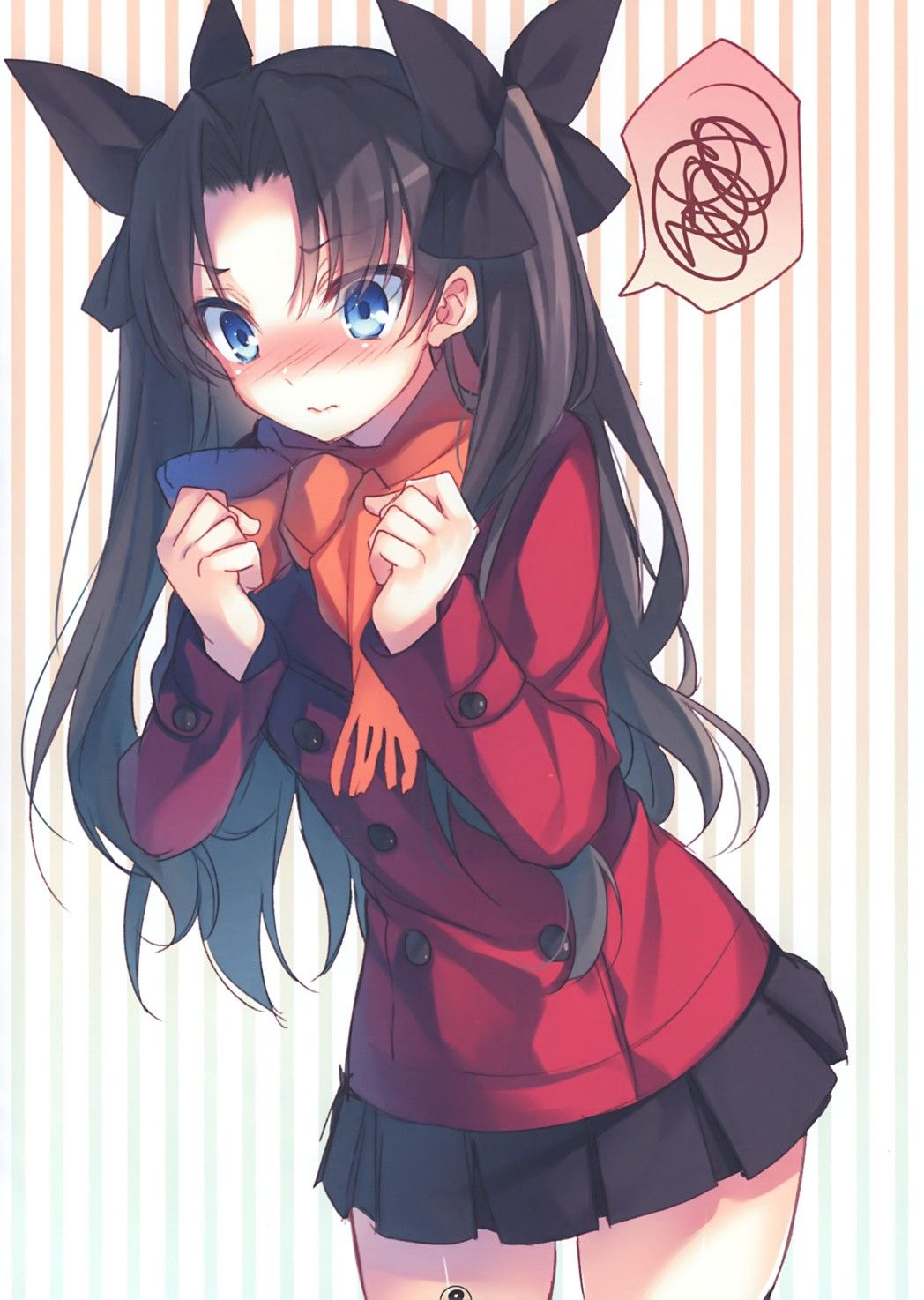 Pin By Anime Cati On Raznoe Fate Stay Night Anime Tohsaka Rin Tsundere