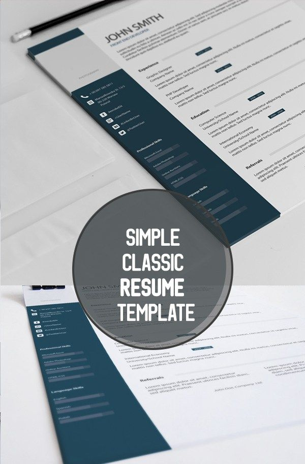Simple Classic Resume Template Business Tips Pinterest - classic resume templates
