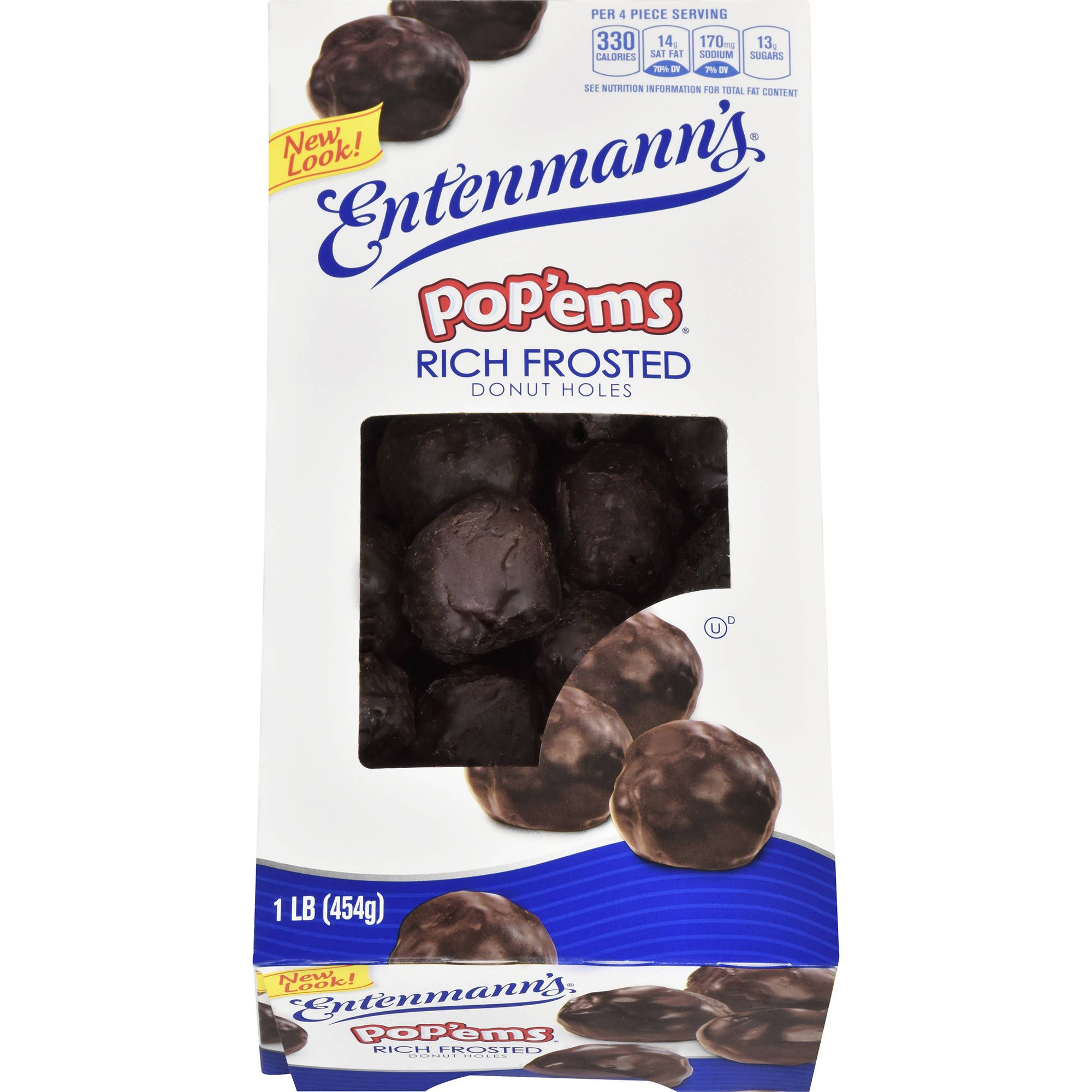 Entenmanns Popems Rich Frosted Donut Holes 1 Lb