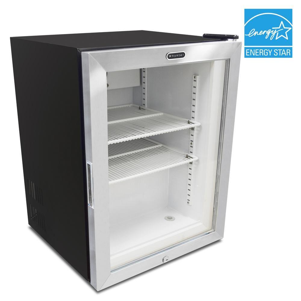 Whynter Countertop Reach In 1 8 Cu Ft Display Glass Door