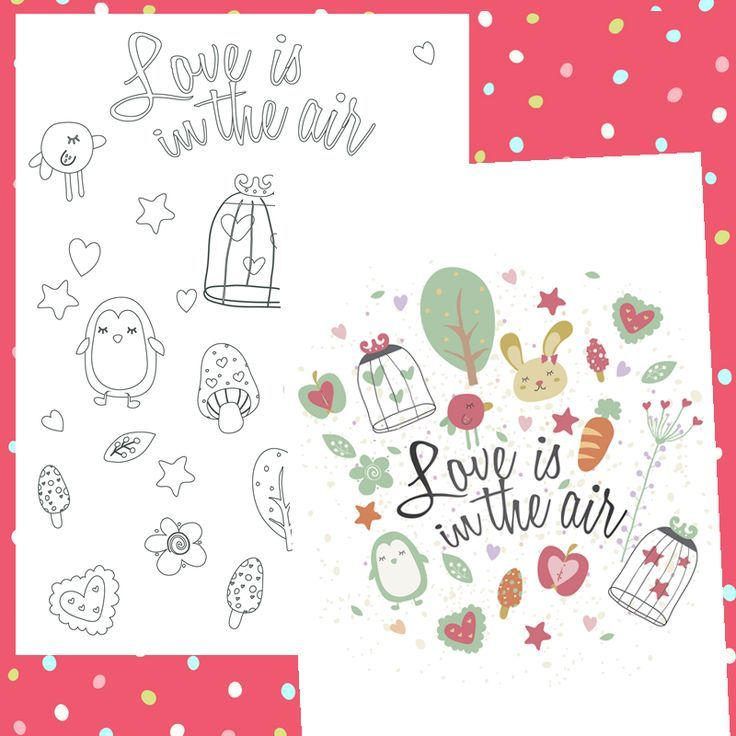 Descargables Gratis para Colorear en San Valentín