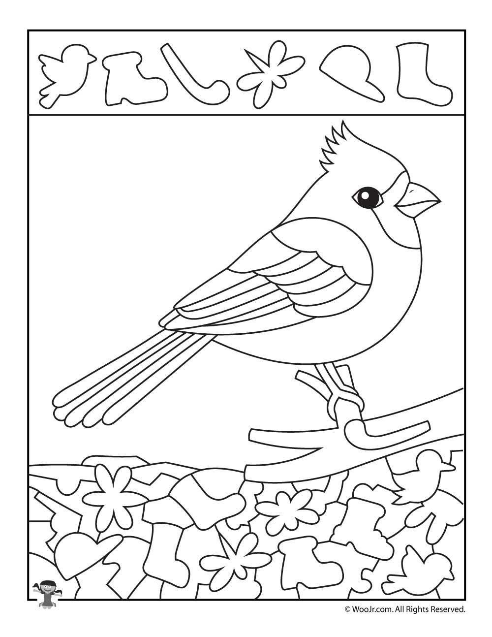 Cardinal Bird Find The Item Worksheet Woo Jr Kids Activities Hidden Pictures Numbers Preschool Bird Supplies [ 1294 x 1000 Pixel ]