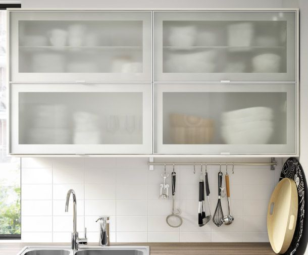 Jutis glass door ikea google search kitchen for Glass kitchen wall units
