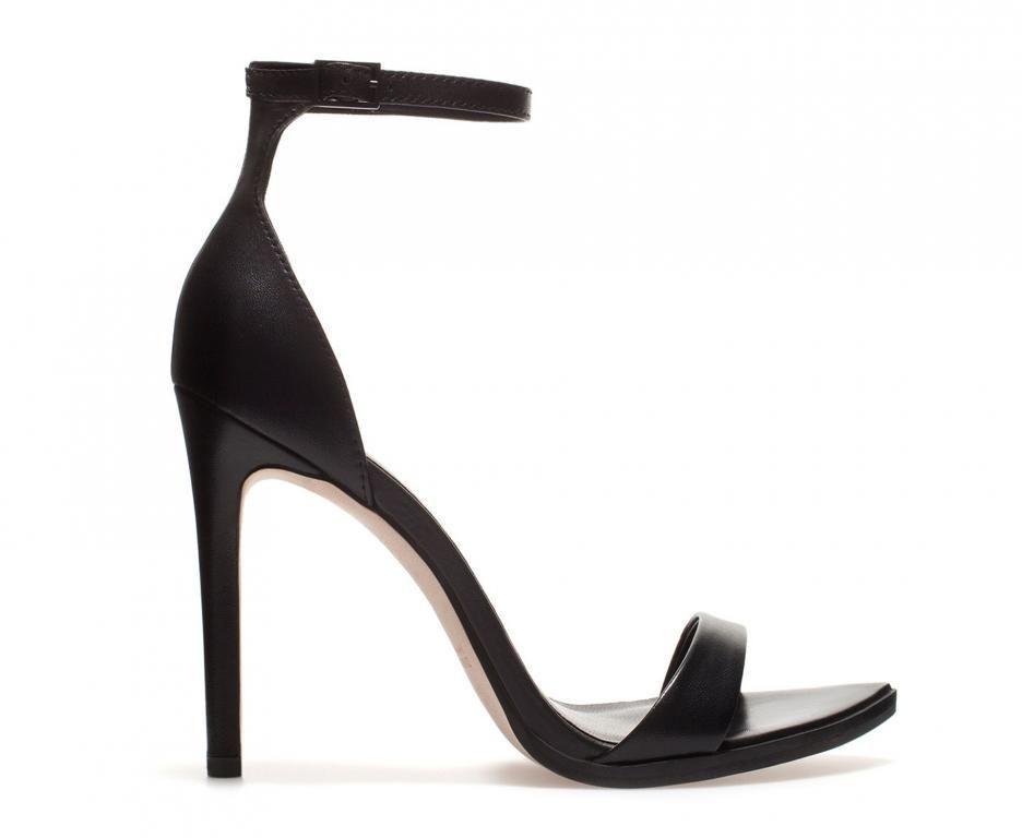 NIB Zara Black Platform Sandal Heel Brand new in box black platform sandal  heel from Zara. Never worn, only tried on (I need a half size larger).