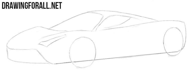 How To Draw A Ferrari Laferrari Ferrarilaferrari How To Draw A