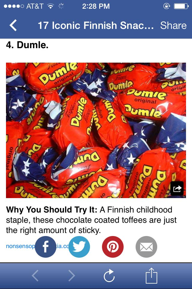 Finnish candy and treats