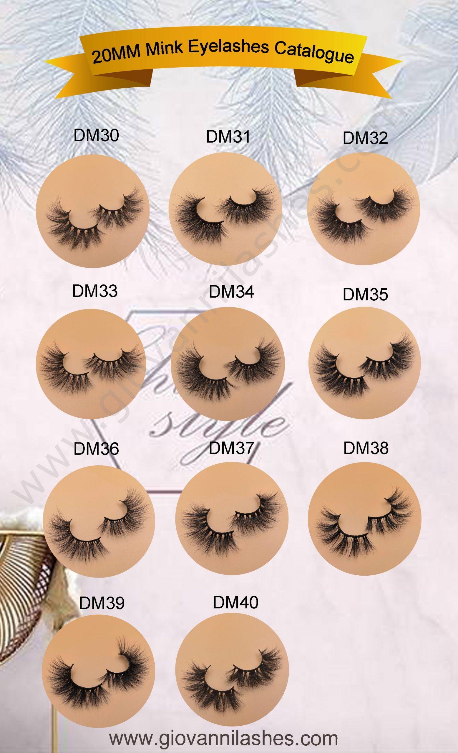 20 mm Mink Lashes in 2020 Mink lashes, Mink eyelashes