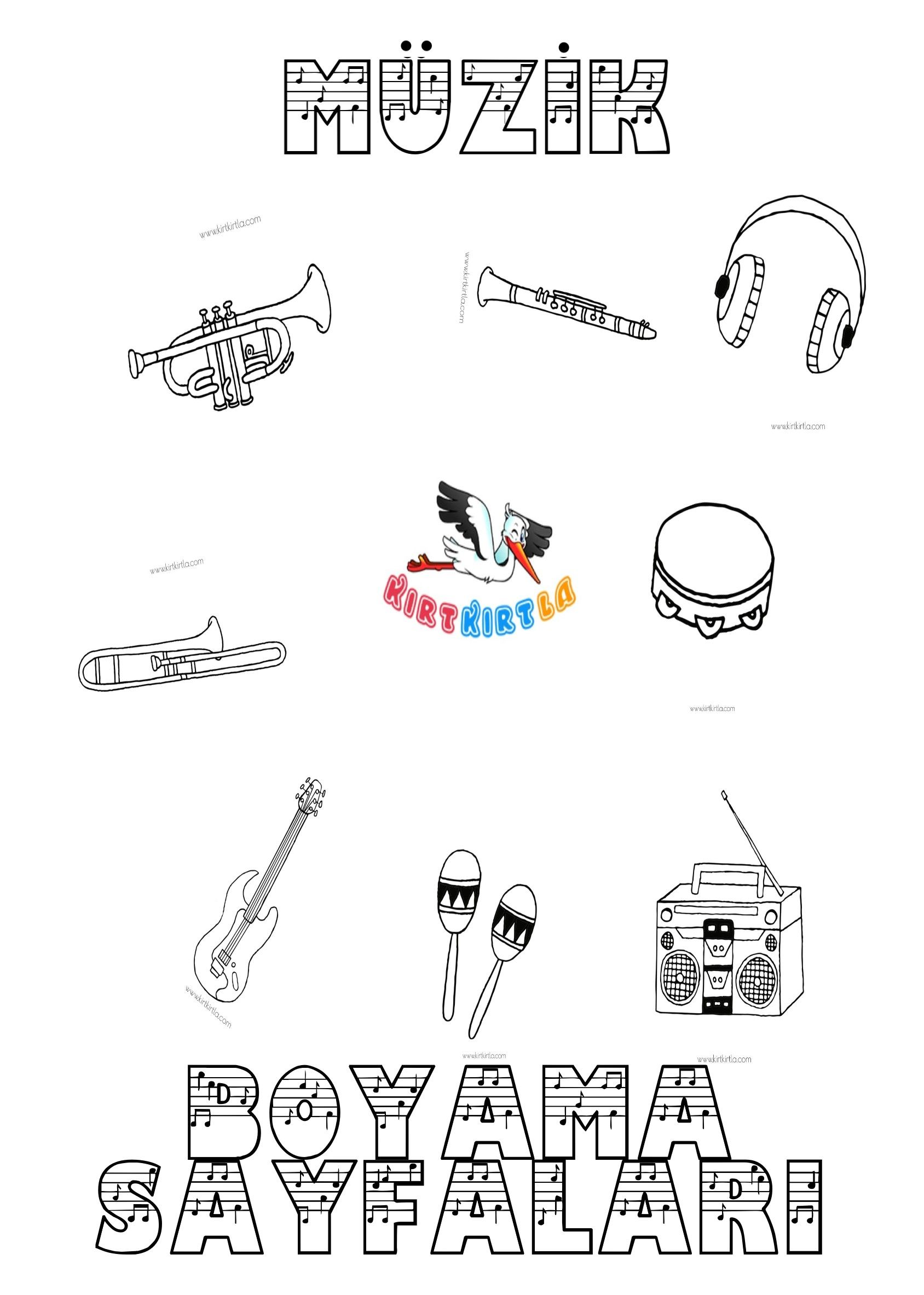 Muzik Boyama Sayfalari Boyama Sayfalari Muzik Muzik Egitimi