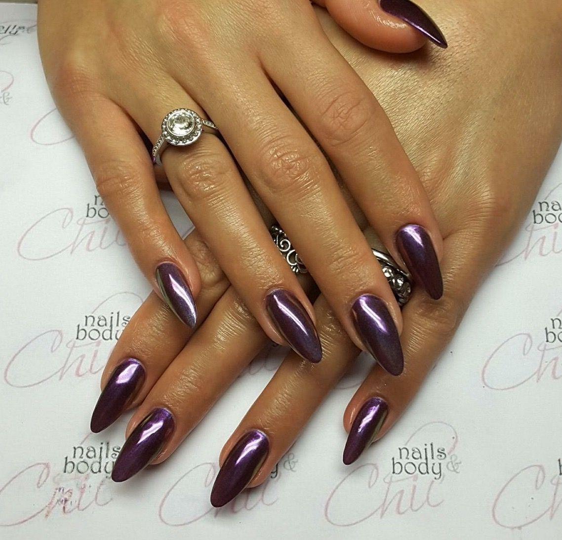 Unghie viola effetto specchio nails pinterest - Unghie effetto specchio ...
