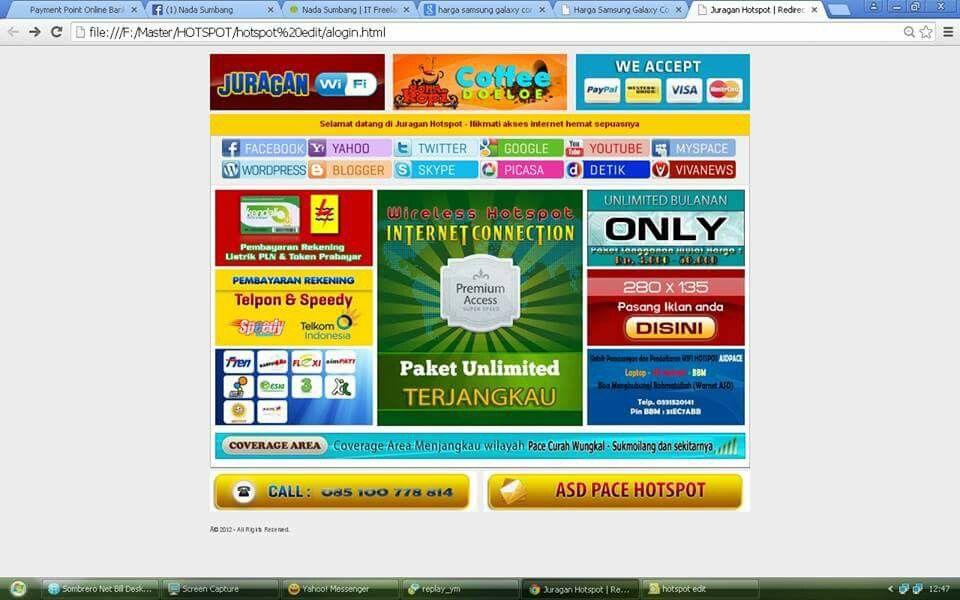 Premium login page mikrotik | Mikrotik Login Template
