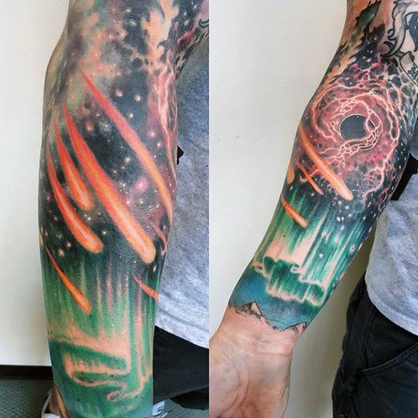 c28f1e42c 70 Outer Space Tattoos For Men - Galaxy And Constellations | Sleeve ...