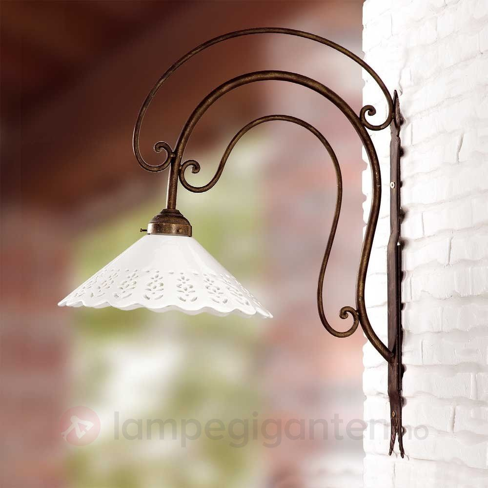 Stor I PORTICI vegglampe 30 cm. Bestilles enkelt og trygt hos Lampegiganten.no