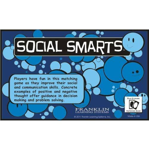 Social Smarts helps all children improve their social relations and communication skills.It is especially helpful for children who tend to misread social cues,