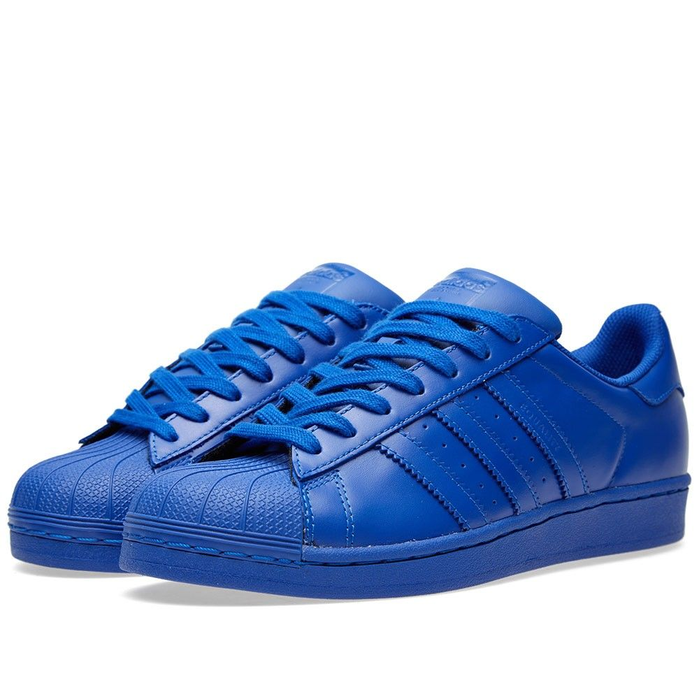 Adidas x Pharrell Superstar 'Supercolour' (Bold Blue) · Pharrell WilliamsMen's  SneakersPolka DotsCasual ...