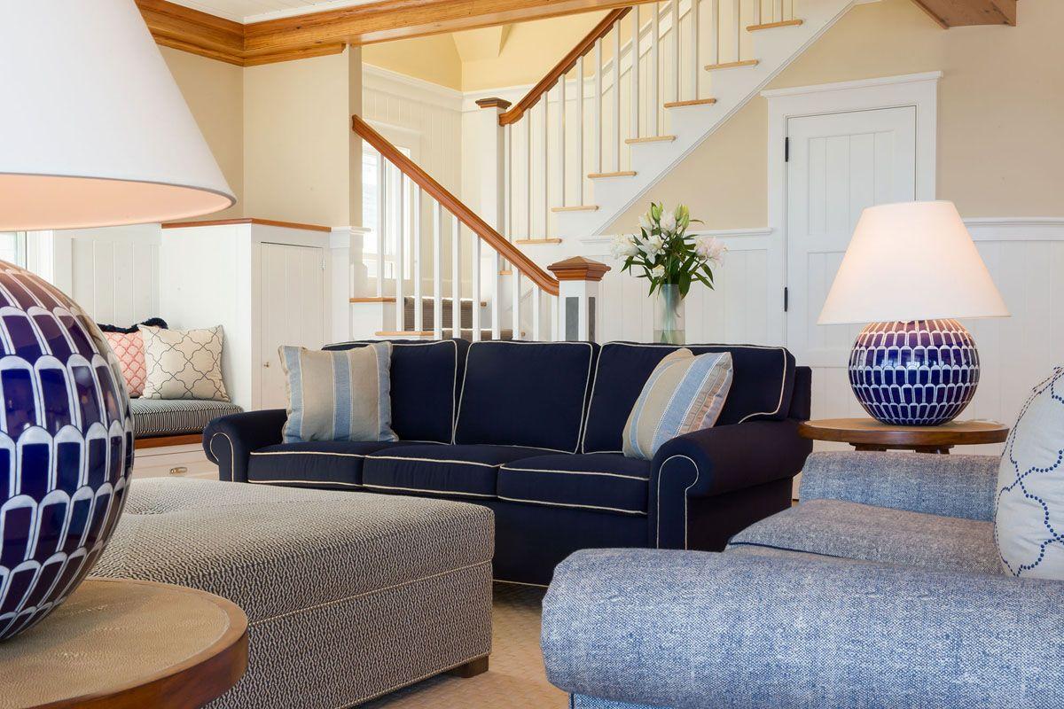 nantucket waterfront home contemporary interior design 3 orange rh pinterest com