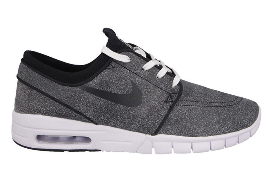 Nike SB Janoski Max L PRM Premium Shoes Mens 9.5 Black Wolf Grey 833530 001