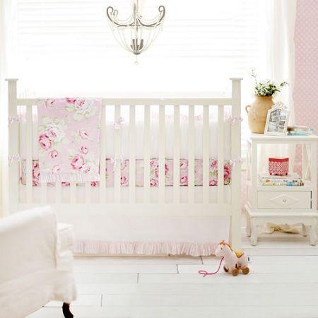 Vintage Floral Crib Bedding Baby Girl Vintage Nursery Bedding Floral Vintage Floral Girl Baby Bedding Peyton/'s Collection