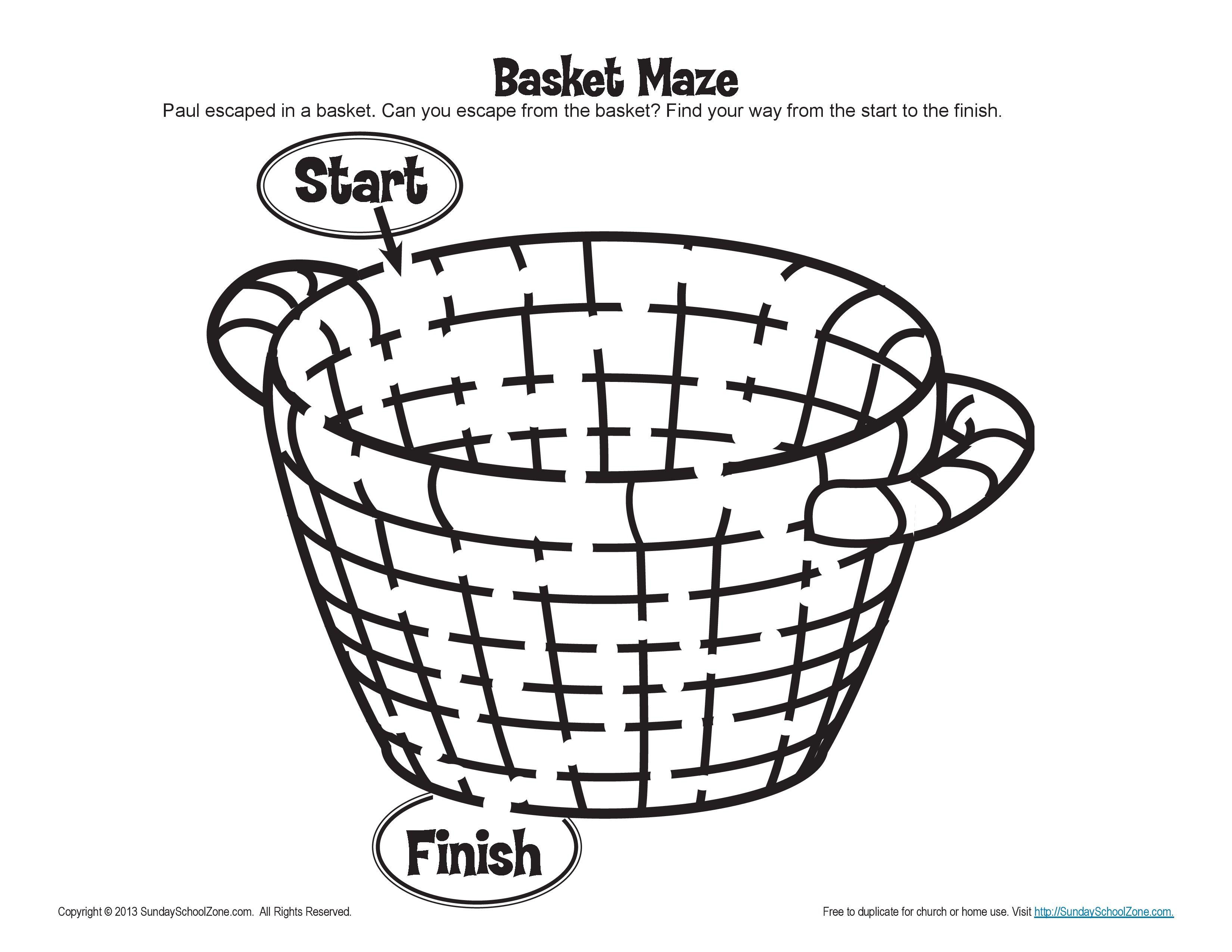 Pauls Escape Basket Maze Activity for Kids  Inspiratie