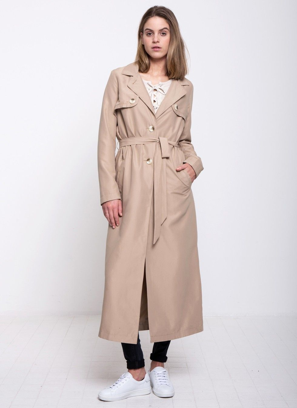 Another-Label Bac Trenchcoat Beige