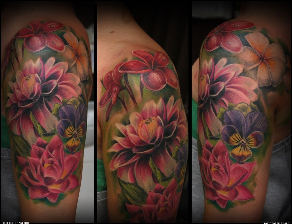 Love this but diff flowers Realistic flower tattoo
