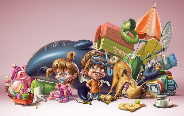 illustrations by Oscar Ramos - Buscar con Google