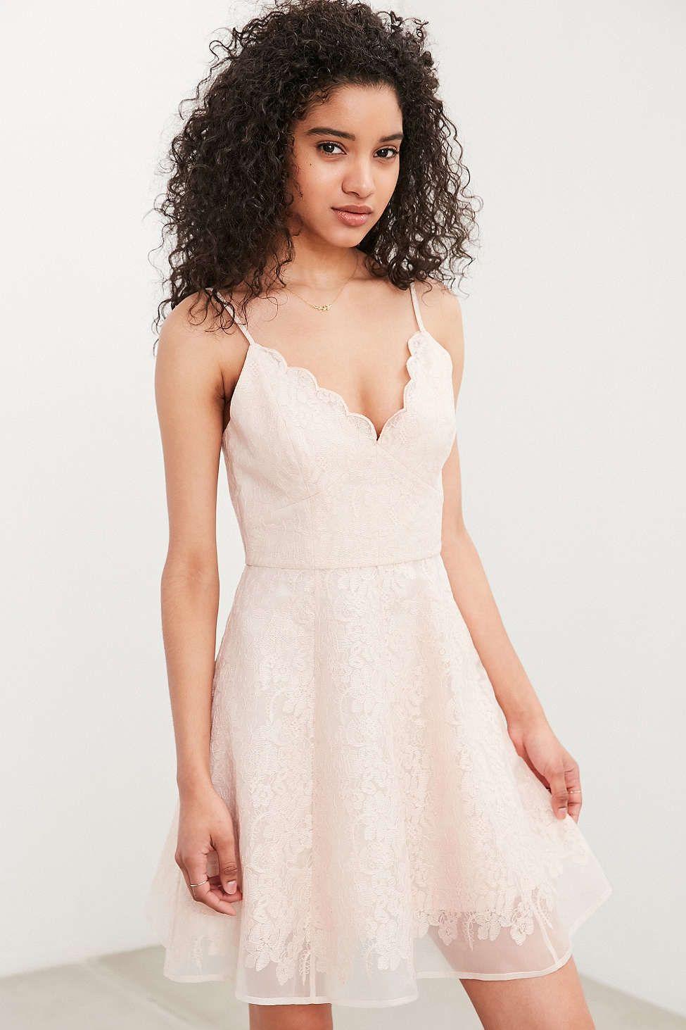 Keepsake sun dream lace fit flare dress fit flare dress pastel