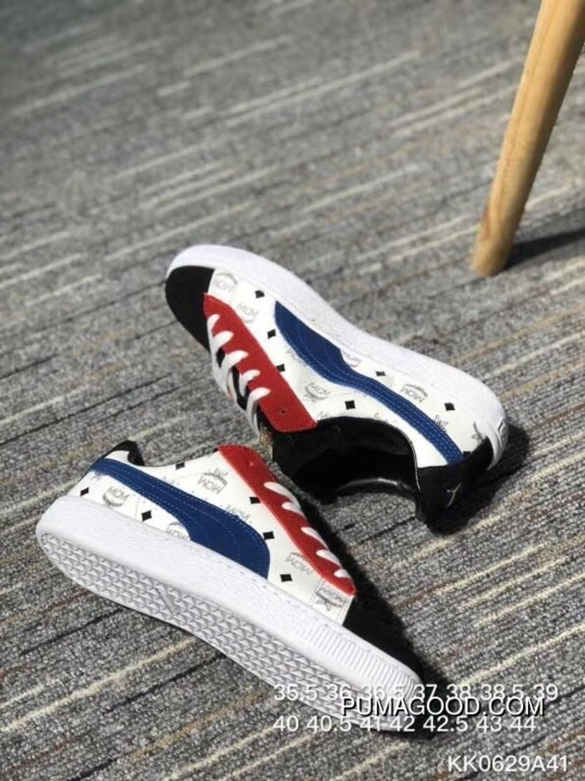 Puma Sneakers High German Luxury Brand Collaboration MCM X Suede For The 50th  Anniversary Of The Classic All-match Star Series Sneakers MCM Black WHite  Blue ... 6f10388d5