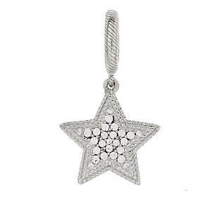 Judith Ripka Sterling Silver Diamonique Star Charm Qvc Com