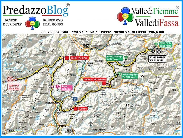28 luglio 2013 Tour de Pologne in Fiemme e Fassa, gli orari dei passaggi