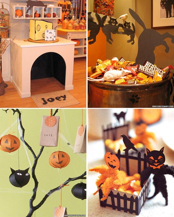 Fun ideas Halloween Pinterest Halloween cat, Halloween - kids halloween party decoration ideas