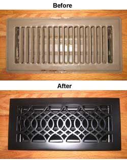 Decorative Brass Floor Register Covers Heat Registers