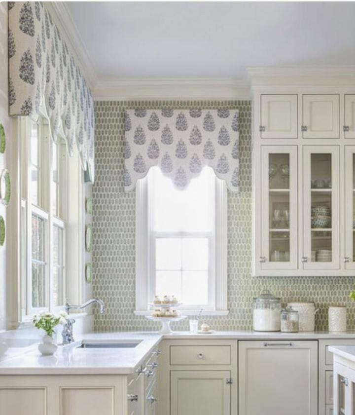 Kitchen Cabinet Valance: Kitchen Window Valence Custom Fabric Window Valance Custom