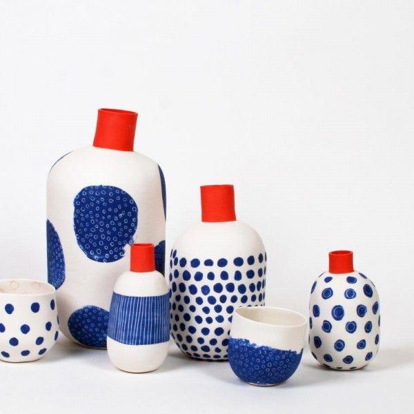 via l atelier des gar ons porcelaine contemporaine les petites robes noires pottery. Black Bedroom Furniture Sets. Home Design Ideas