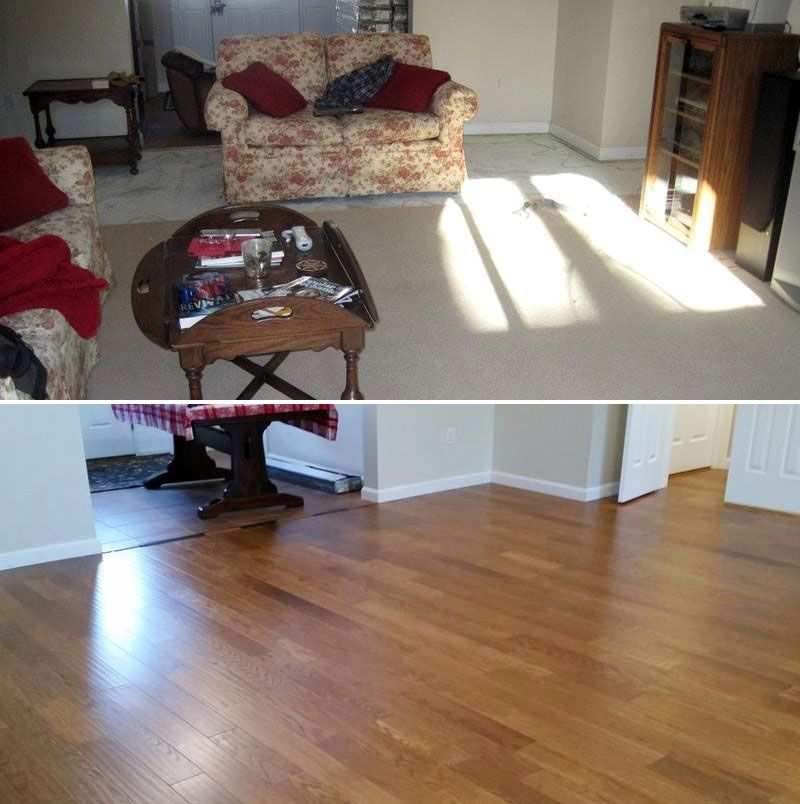 """Before & After with Rivers Red Oak! """"We just purchased the"""