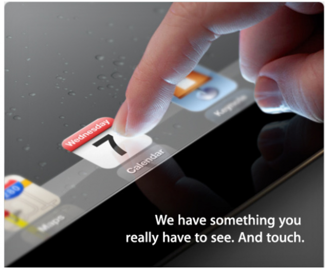 Apple sends out invites for the launch of the iPad 3! #IwantOne