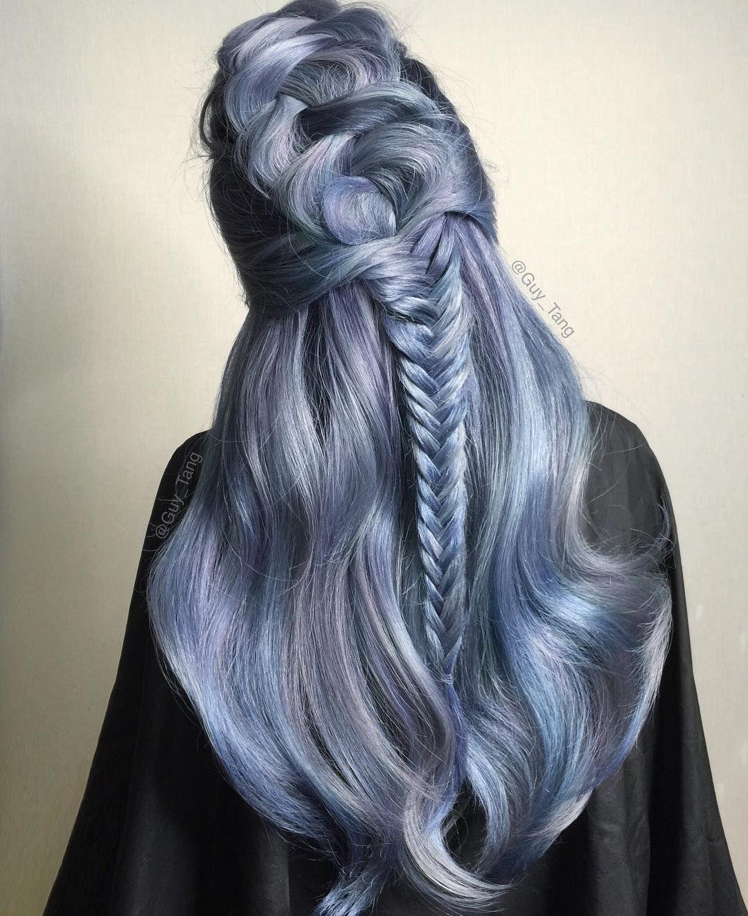 Icy Blue By Guy Tang Lilac Hair Denim Blue Hair