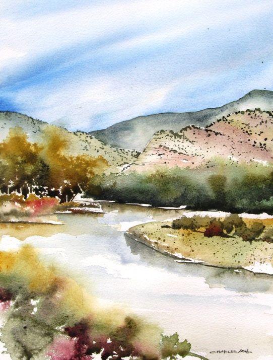 rio chama vista - original watercolor