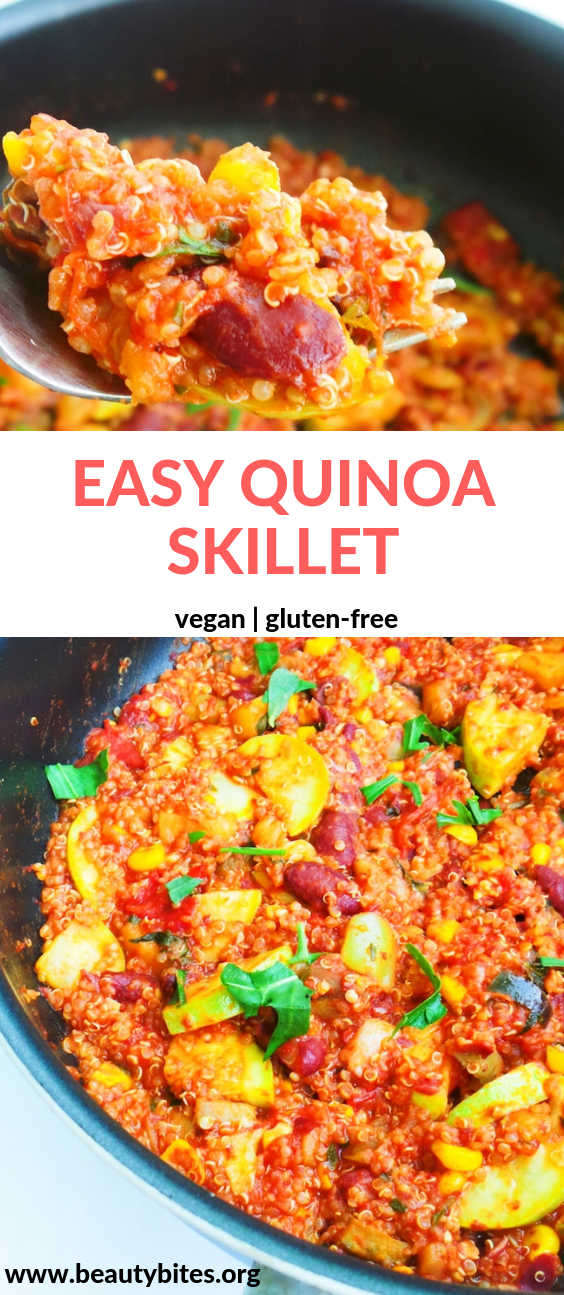 Healthy Quinoa Skillet Easy Vegan Dinner