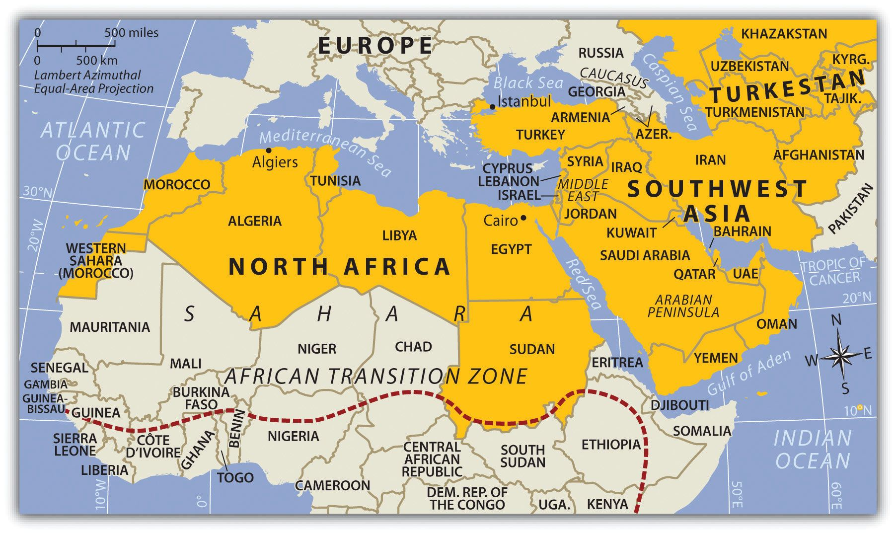 Southwest Asia And North Africa Map North Africa and Southwest Asia | African countries map, Asia map