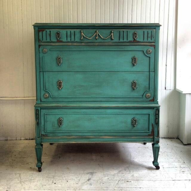 Hope my dresser turns out like this! light emerald green or blue spruce  green with - Hope My Dresser Turns Out Like This! Light Emerald Green Or Blue