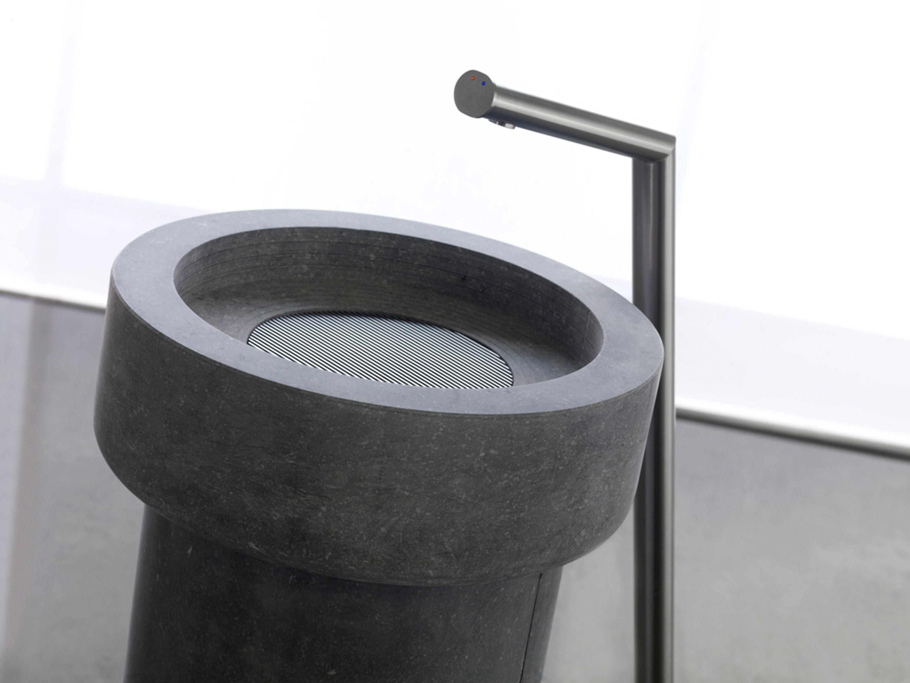 vrijstaande dew wastafel belgisch hardsteen l balance bathroom