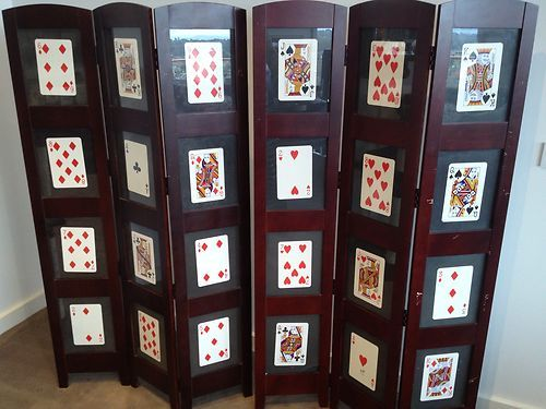 Privacy Screen Photo Frame Room Divider Holds 12 8 10 Wooden Frames X2