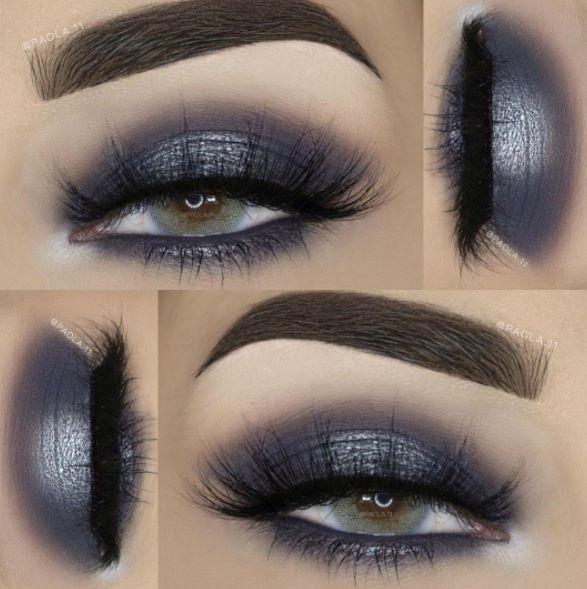Grey Metallic Smoky Eye Makeup Pinterest Makeup Eyeshadow And