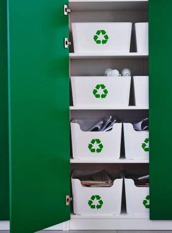 PLUGGIS waste sorting bins inside a cabinet About Business - vorh nge f r k chenfenster