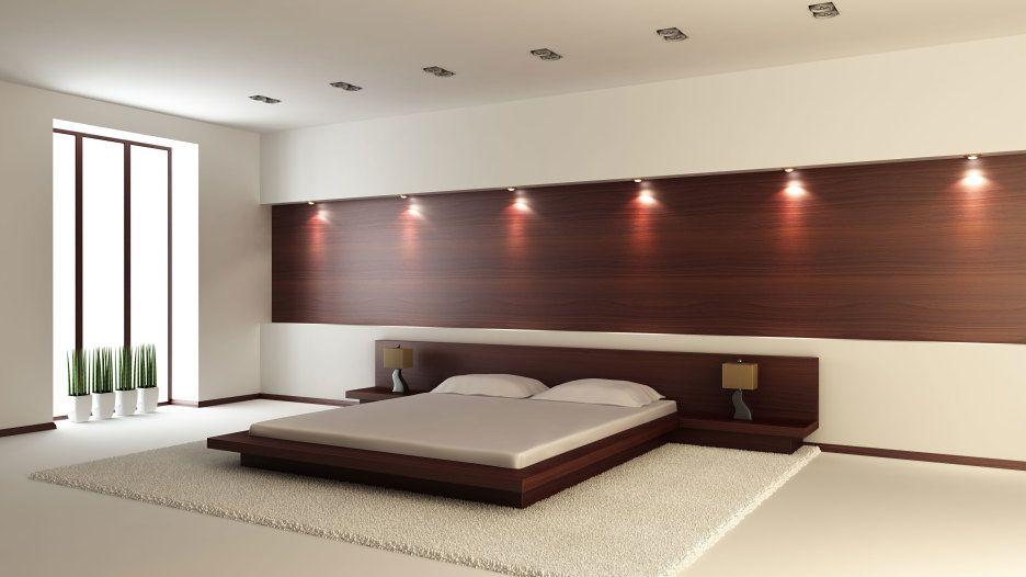 Bedroom Brown Wooden Diy Bed Frame Built In Headboard And